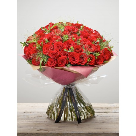 Devoted Rose Hand-tied