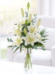 White Scented Lily Arrangement
