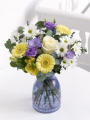 Blue and Lemon Arrangement